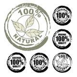 100% natuurlijke zegel stock illustratie
