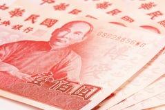 100 neues Taiwan Dollarschein. Stockfotografie