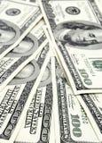 100 notes du dollar Photos libres de droits