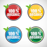 100% organic buttons Royalty Free Stock Photography