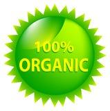 100 organicznie procentów Obraz Stock