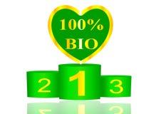 100 organicznie produkt Fotografia Stock