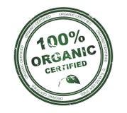 100 organicznie round znaczka tekst Obraz Stock