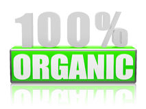 100% organique Photos stock