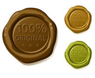 100% original. Vector sealing wax Stock Images