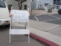$100 parkerende Vlek Stock Afbeelding