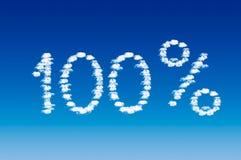 100 per cento Immagini Stock