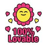 100 per cento amabili Immagini Stock