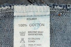100 per cento del cotone Immagini Stock