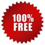 100 per cento liberano l'autoadesivo Immagini Stock