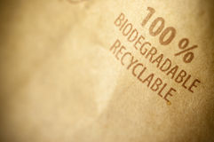 100 percent biodegradable and recyclable Royalty Free Stock Images
