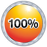 100 percent free. A button with 100% free Stock Photos