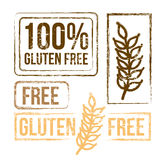 100 percent free gluten. Over white background vector illustration Stock Image