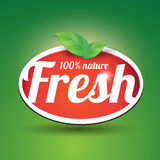 100 percent fresh. Nature with green leaf Stock Image