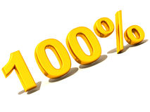 100 percent. Gold Royalty Free Stock Photos