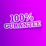 100 percent Gurantee  Sticker. Illustration of sticker of 100 percent gurantee tag in paper cut out Royalty Free Stock Photography