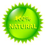 100 Percent Natural. Royalty Free Stock Photos