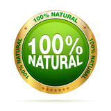 100 percent natural badge. Isolated editable EPS 10  graphic Royalty Free Stock Photography