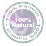 100 percent natural rubber stamp Royalty Free Stock Images