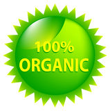 100 Percent Organic. One Hundred Percent Organic Green Graphic Stock Image