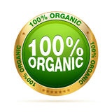 100 percent organic badge. Isolated editable EPS 10  graphic Stock Image