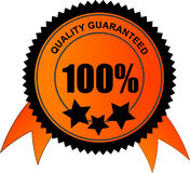 100 percent quality guaranteed Royalty Free Stock Image