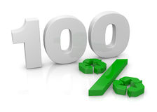 100 percent recycling concept Royalty Free Stock Image