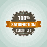 100 percent satisfaction. Vintage label stock illustration