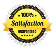 100 Percent Satisfaction Ecommerce Badge. Modern 100 Percent Satisfaction Guarantee Ecommerce Vector Badge Stock Photos