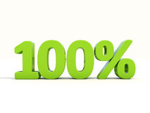100% percentage rate icon on a white background Stock Images