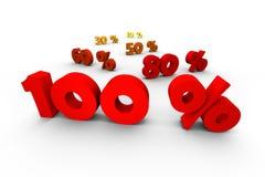 100 percenten eerste Royalty-vrije Stock Afbeelding