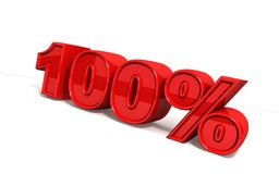 100 Percents Stock Photography