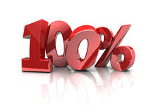 100 percents Royalty Free Stock Photos
