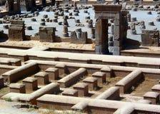 100 persepolis залы колонок Стоковое Изображение