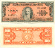 100 pesos cubanos Fotos de Stock