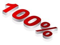 100% pictogram Stock Afbeeldingen