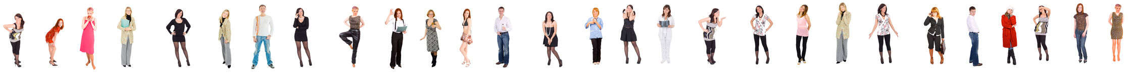 100 pies de línea de gente Imagen de archivo