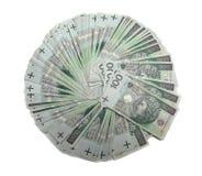 100 polerade zloty Royaltyfri Fotografi