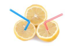100 por cento de suco de limão puro Fotos de Stock Royalty Free