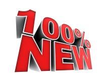 100 por cento novo Fotos de Stock