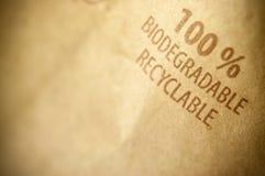 100 pour cent biodégradables et de recyclables Images libres de droits