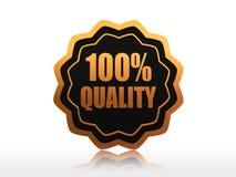 100 pour cent de qualité Photographie stock