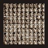 100 projectiles des émotions de femmes Photographie stock