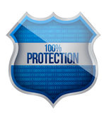 100% Protection concept Royalty Free Stock Photography