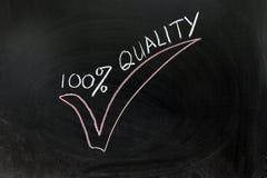 100 Prozent Qualität Stockfoto