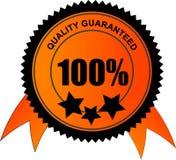 100 Prozent Qualität garantiert Lizenzfreies Stockbild