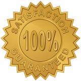 100 Prozent Zufriedenheit Stockbild
