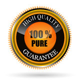 100% pure tag. Illustration of 100% pure tag on white background Stock Illustration
