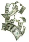 100 rachunków spadać pieniądze Zdjęcia Royalty Free