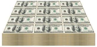 100 rachunków sterta Zdjęcie Royalty Free